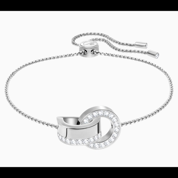 Swarovski Jewelry - Swarovski Hollow  Bracelet, White, RHODIUM PLATING